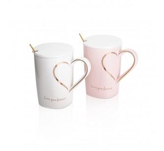 Coffret 2 mugs Coeur