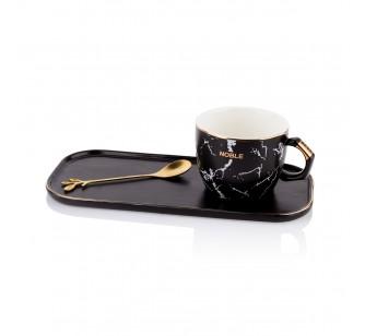 Tasse à café noire