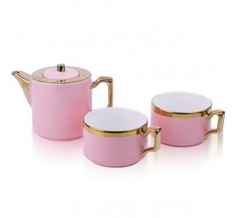 Coffret à thé rose