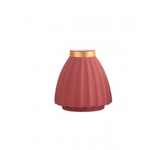 Vase rose 16cm